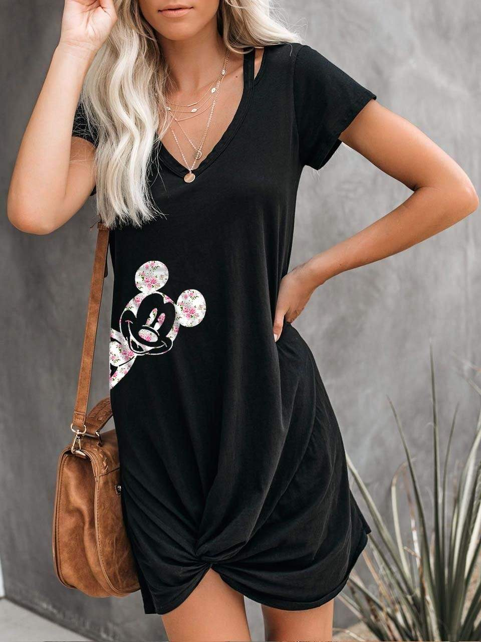 Mickey Mouse Fashion Twist Together Mini Dress