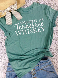 wiccous.com T-Shirts Green / S Smooth As Jennessee Whiskey Tee
