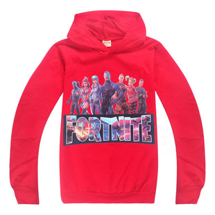 Cool Fortnite Print Long Sleeve Pullover for Kids