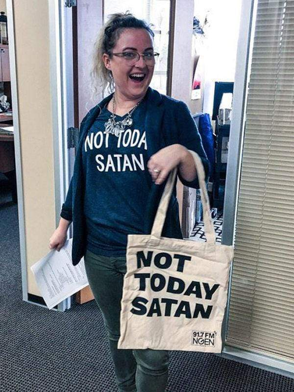 wiccous.com T-Shirts Blue / S Not Today Satan Not Today T-Shirts