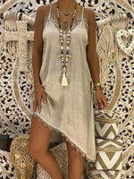 wiccous.com Plus Size Dress Grey / L Plus size Lace Strap Dress