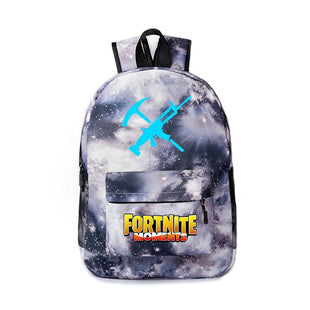 Fortnite Element and Letter Print Luminous Schoolbag
