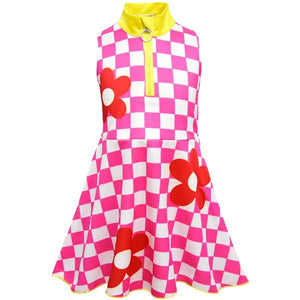 LOL Surprise! Plaid Sleeveless Cute Girls Cosplay Dress