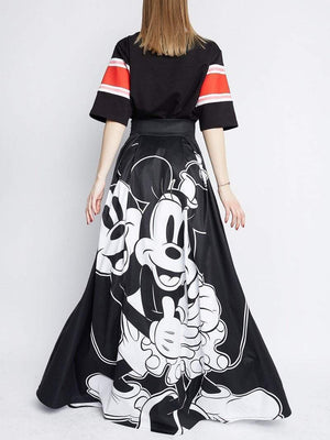 Mickey  Printing  Long  Overskirt