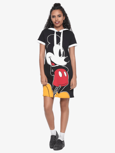 Mickey Short Sleeve Long T-shirt Dress