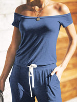 Pocketed Drawstring Jumpsuit