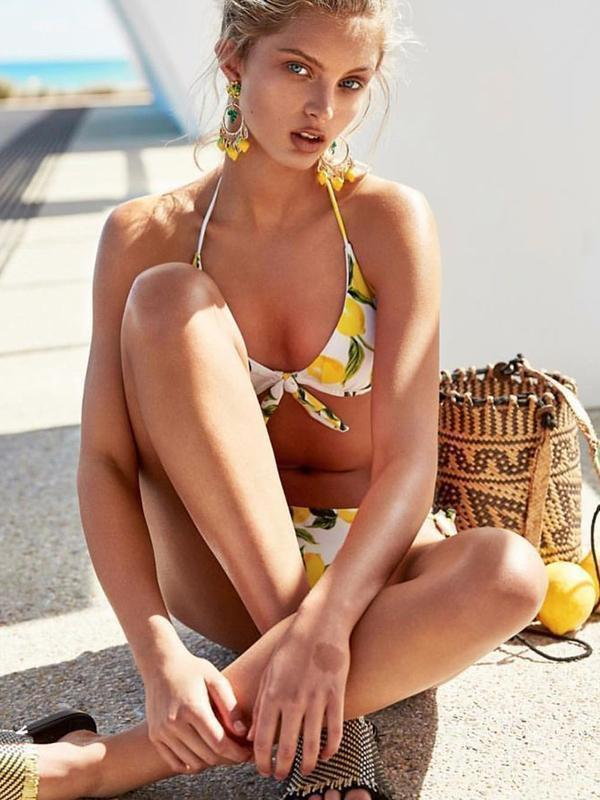Lemon Print Bikini Set