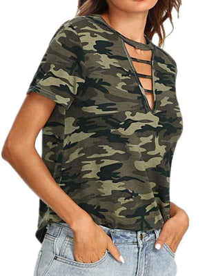 wiccous.com T-Shirts Same as photo / S Hollow Camouflage Printing T-shirts