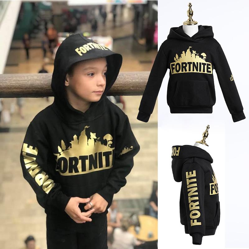 Fortnite Cool Golden Print Hoodie For Kids