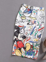 Mickey Cartoon Fashion Skirt
