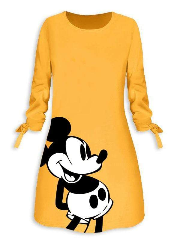 Mickey Mouse Half Sleeve Dress