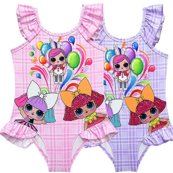 LOL Surprise! Girls Plaid One-Piece Swimwear