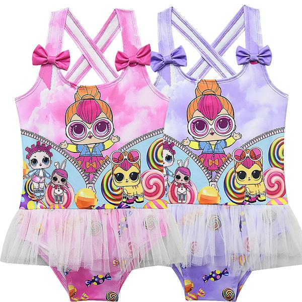 LOL Surprise! Girls Fancy Bow Decoration One-piece Swimwear