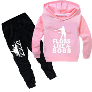 Floss Like A Boss- Fortnite Print Long Sleeve Pullover and Pants Set for Kids