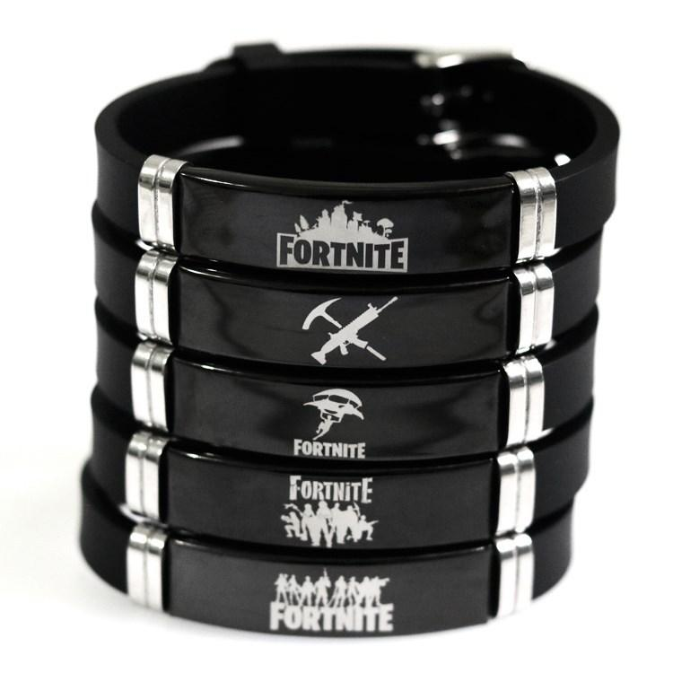 Fortnite Black Stainless Steel Wristband Bracelet