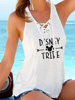 Disney Print V-Neck Vest Top With Straps