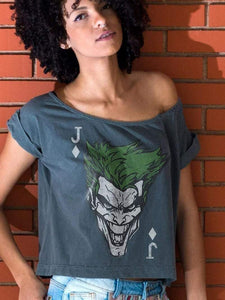 The Joker Card Off-The-ShoulderT-shirt TEE