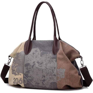 wiccous.com Bags Coffee Folk Style Print Canvas Bag