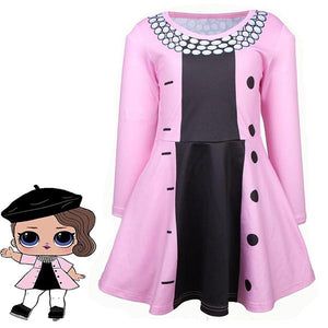 Girls LOL Surprise Doll Princess Long Sleeve Costume Cosplay Dress