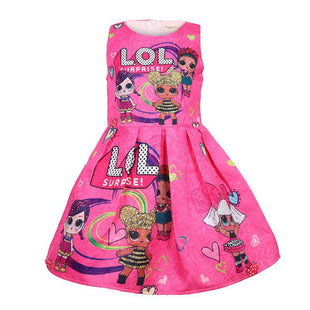 L.O.L Surprise! Logo Pattern Print Girls Dress
