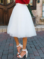 White Tulle Skirt