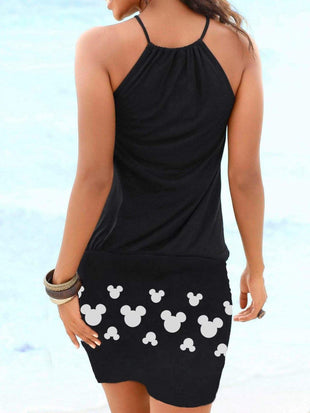 Mickey Mouse Halter Mini Dress