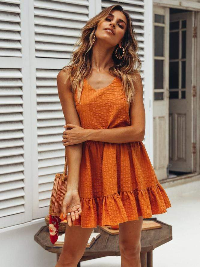 Fashion Sleeveless Sexy Short Dress