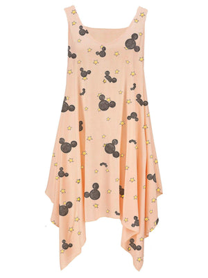 Mickey Mouse Star Irregularity Simple Giant Swing Dress