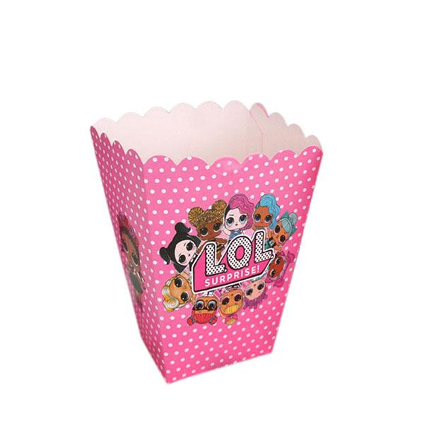6PCS LOL Surprise! Doll Birthday Party Popcorn Boxes