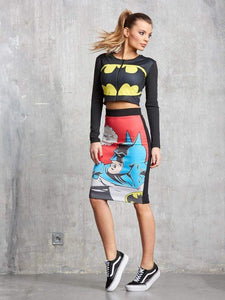 Batman printing skirt