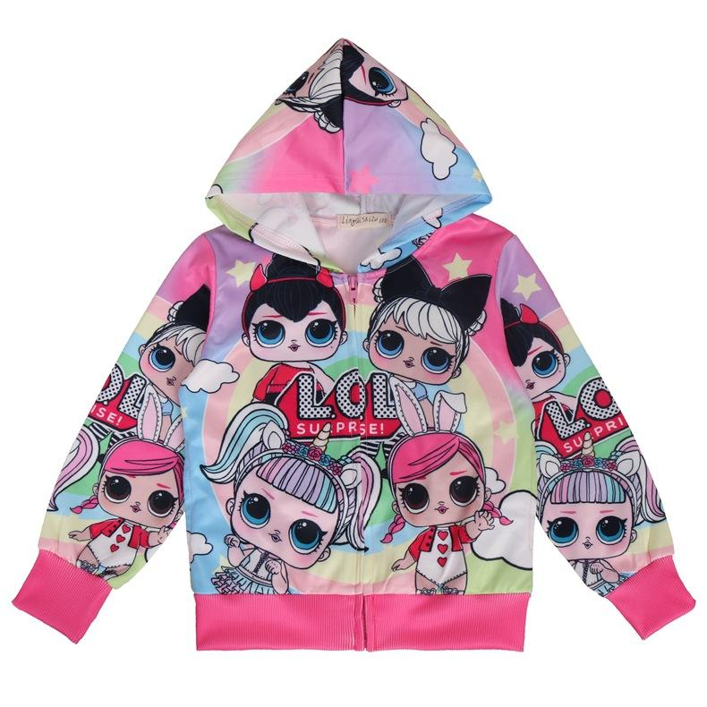 LOL Surprise! Hoodie Fantastic Color Zipper Jacket