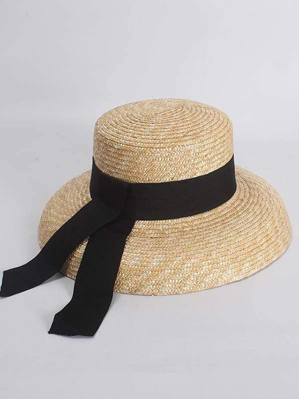 wiccous.com hat Wheat Straw bell shaped straw hat
