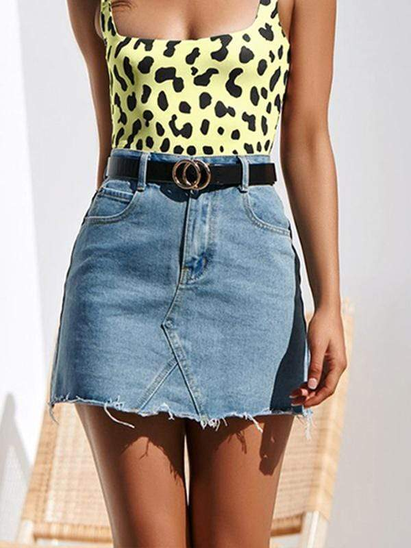 wiccous.com Skirt Blue / S Denim Skirt
