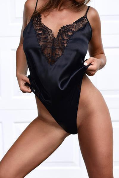 wiccous.com Tops Black / S Sexy Lace Sling Jumpsuit