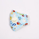 Boys Kids KN95 Face Mouth Cover Mask with Filter and Breathing Valve for 3-12 Years Anti Allergy Anti Pollution Anti Dust, Great for Outdoors, Sun Protetction  CE Approved