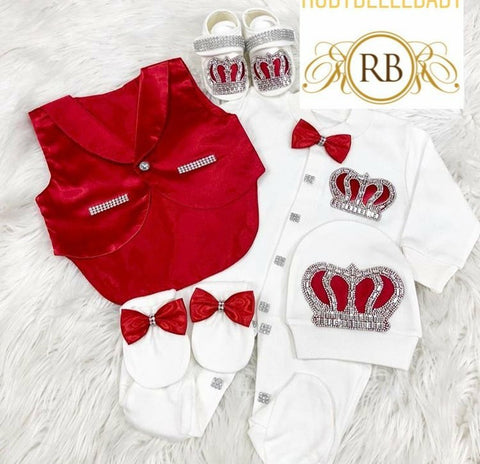 5pcs Tux Set - Red