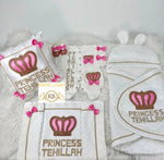 9pcs Layette and Swaddling Blanket Princess Set - Pink/Gold - RUBYBELLEBABY