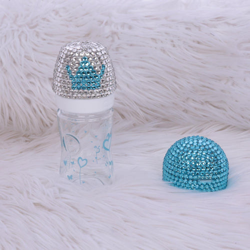 2pcs Crown Bottle Set - Light Blue - RUBYBELLEBABY