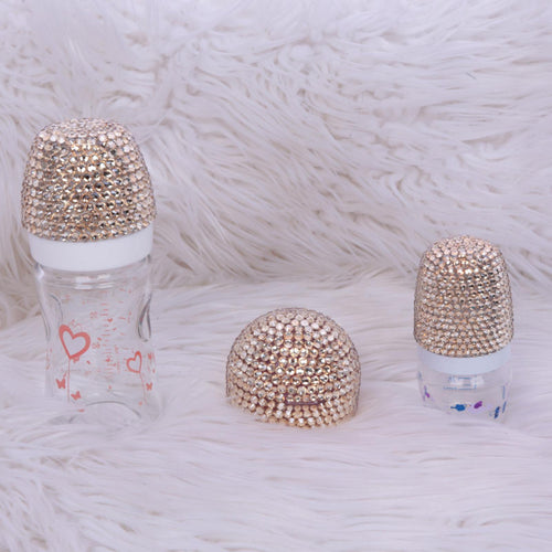 3pcs Golden Bottle Set - Gold - RUBYBELLEBABY