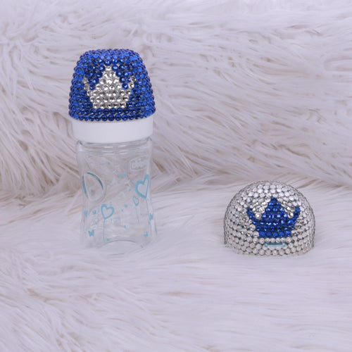 2pcs Crown Bottle Set - Royal Blue - RUBYBELLEBABY