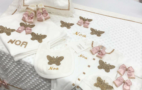 8pcs Butterfly Set - Blush