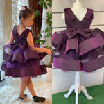 Special Edition Girls Purple Plum Eggplant Aubergine Color Dress