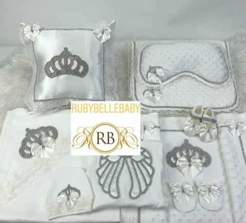 8pcs Princess Crown Wings Set - White