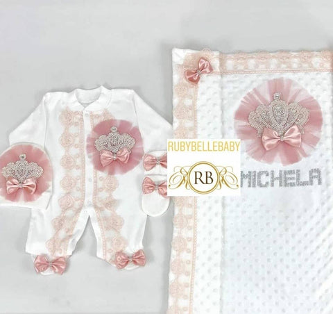 4pcs Jeweled Set - Blush