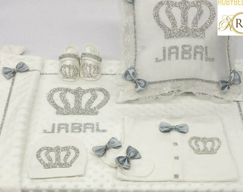 6pcs Royal Crown Set - Grey