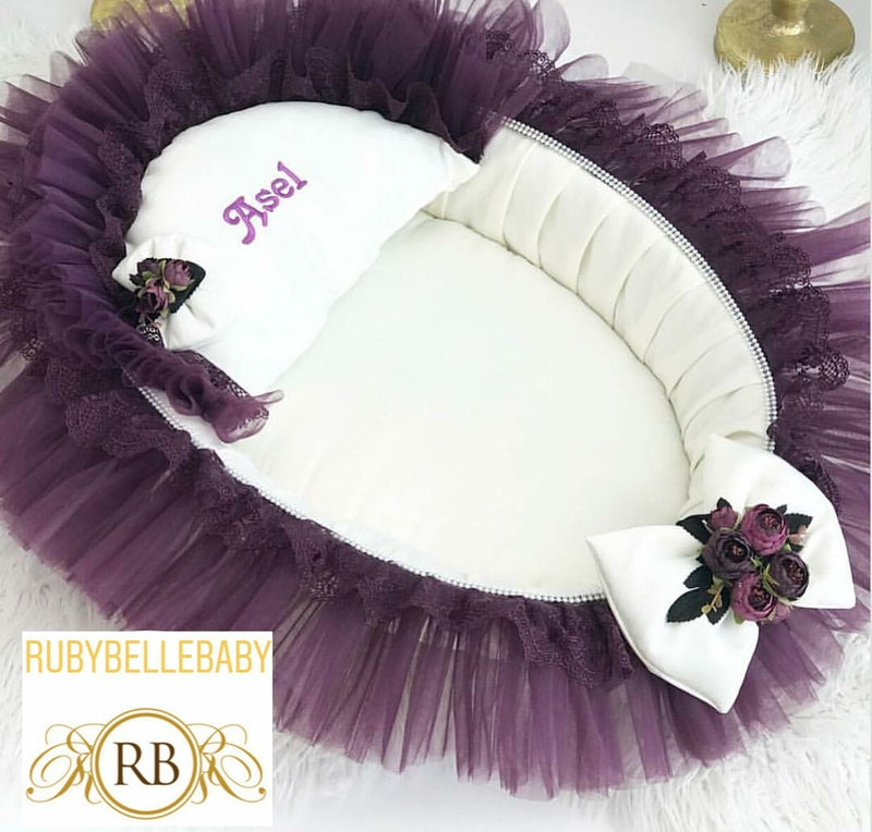 Asel Baby Bed - Purple