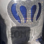 3pcs Prince Set Royal Blue and Silver with pillow - RUBYBELLEBABY