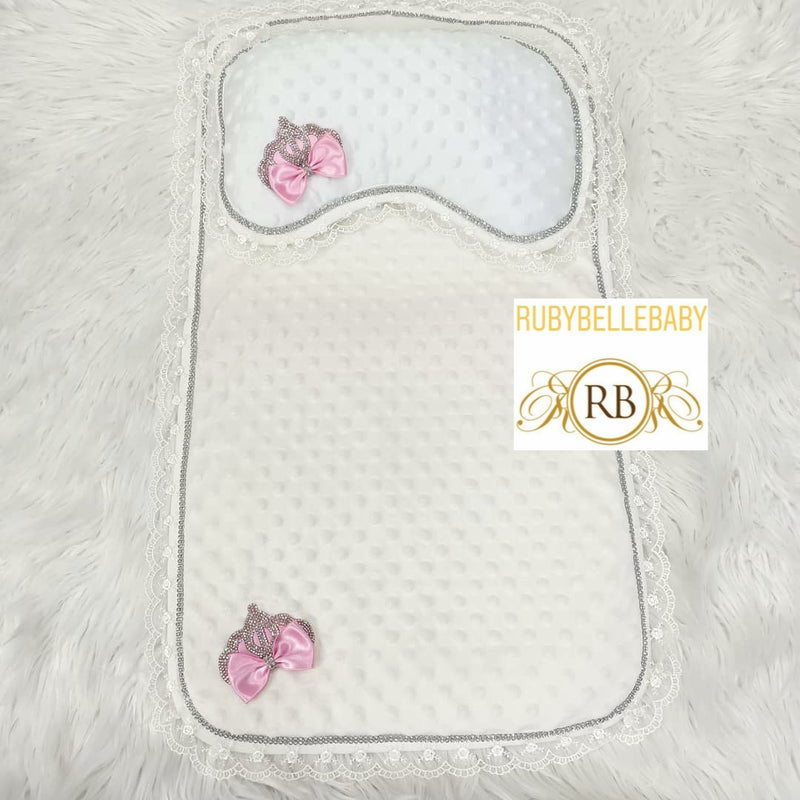 Princess Crown Mat & Pillow - Pink
