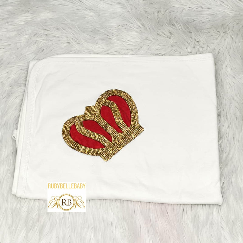 Royal Crown Receiving Blanket - All Colors