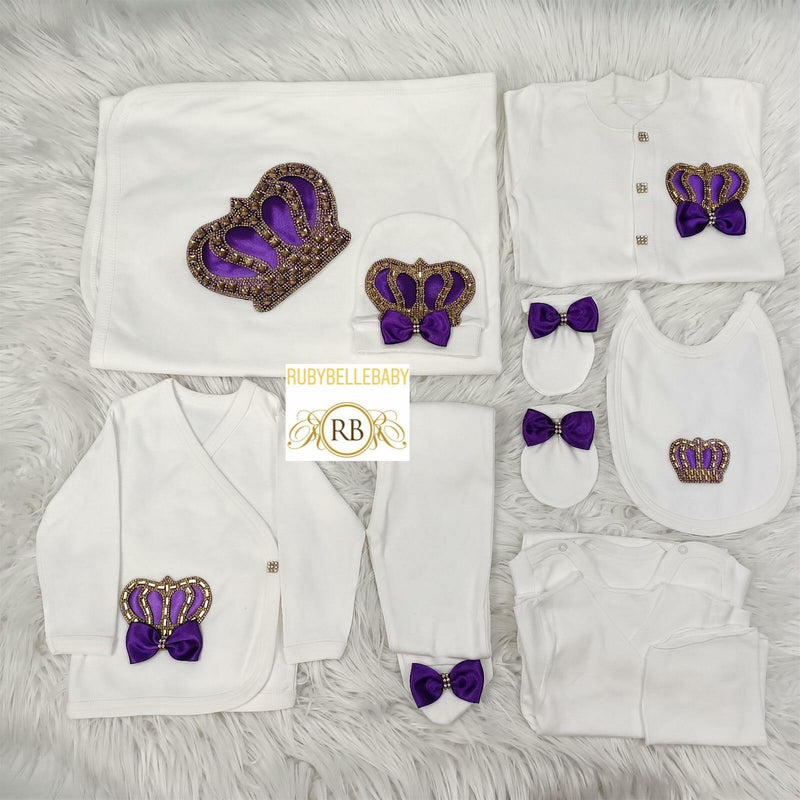 10pcs HRH Crown Set - Purple - RUBYBELLEBABY